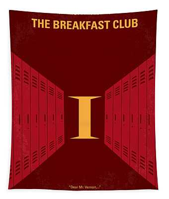 No309 My The Breakfast Club Minimal Movie Poster Tapestry