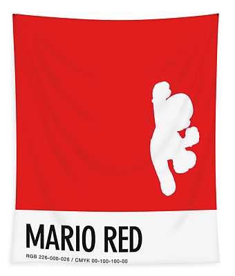 No33 My Minimal Color Code Poster Mario Tapestry