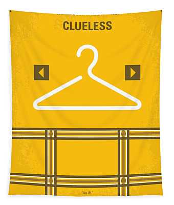 No331 My Clueless Minimal Movie Poster Tapestry