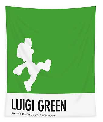 No34 My Minimal Color Code Poster Luigi Tapestry