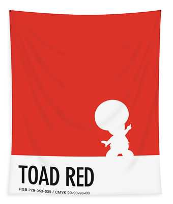 No41 My Minimal Color Code Poster Toad Tapestry