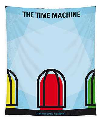 No489 My The Time Machine Minimal Movie Poster Tapestry