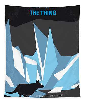 No466 My The Thing Minimal Movie Poster Tapestry