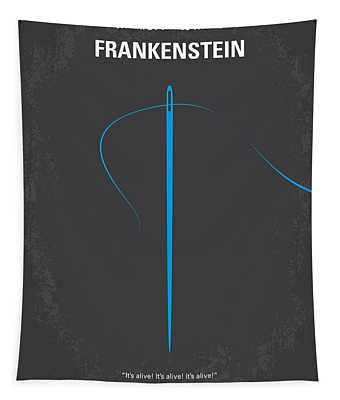 No483 My Frankenstein Minimal Movie Poster Tapestry