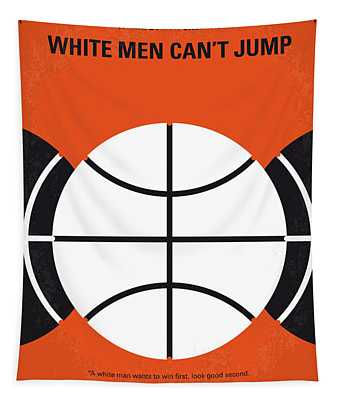 No436 My White Men Cant Jump Minimal Movie Poster Tapestry