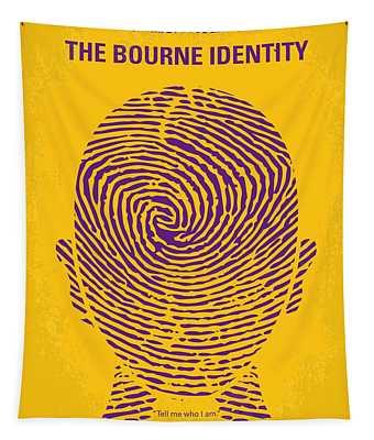 No439 My The Bourne Identity Minimal Movie Poster Tapestry