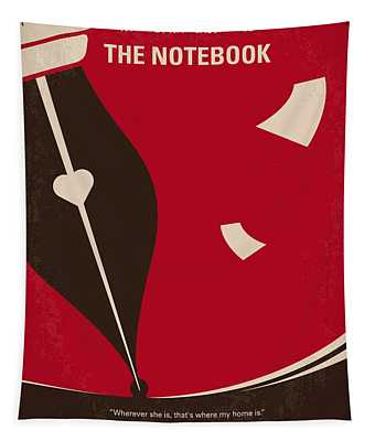 No440 My The Notebook Minimal Movie Poster Tapestry