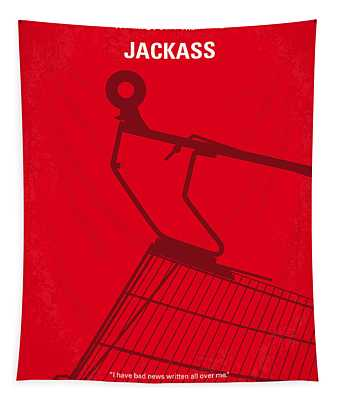 No444 My Jackass Minimal Movie Poster Tapestry