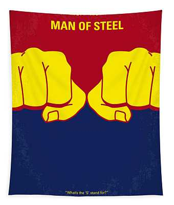 No447 My Men Of Steel Minimal Movie Poster Tapestry