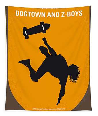 No450 My Dogtown And Z-boys Minimal Movie Poster Tapestry