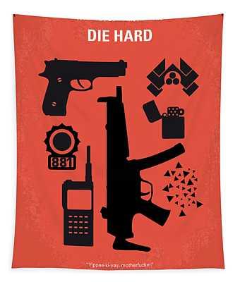 No453 My Die Hard Minimal Movie Poster Tapestry