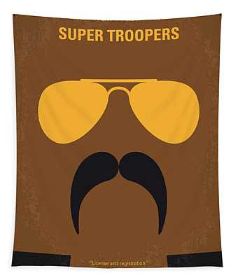 No459 My Super Troopers Minimal Movie Poster Tapestry