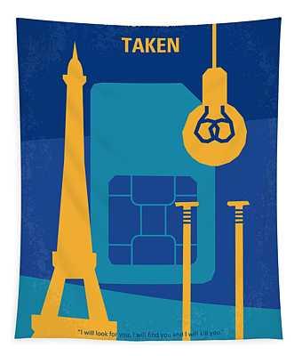 No469 My Taken Minimal Movie Poster Tapestry