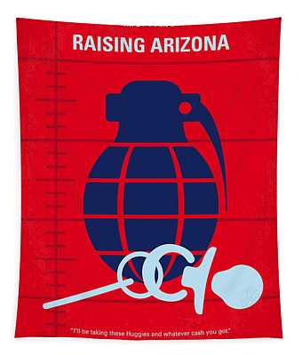 No477 My Raising Arizona Minimal Movie Poster Tapestry