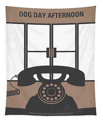 No479 My Dog Day Afternoon Minimal Movie Poster Tapestry