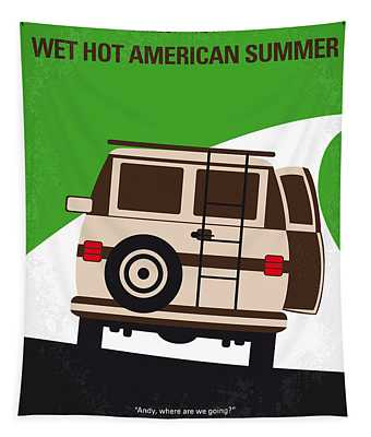 No481 My Wet Hot American Summer Minimal Movie Poster Tapestry