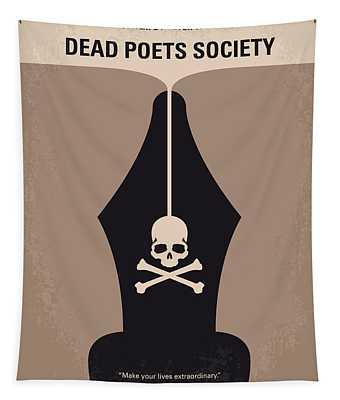 No486 My Dead Poets Society Minimal Movie Poster Tapestry
