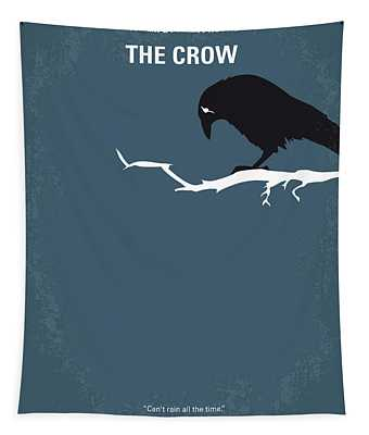 No488 My The Crow Minimal Movie Poster Tapestry