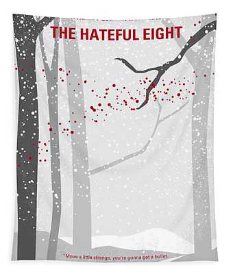 No502 My Hateful Eight Minimal Movie Poster Tapestry