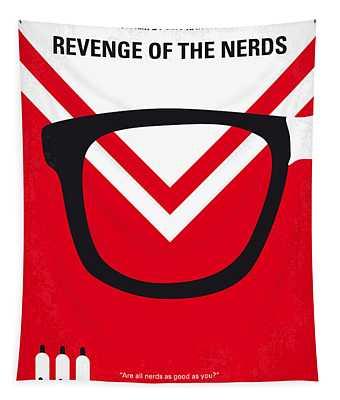 No504 My Revenge Of The Nerds Minimal Movie Poster Tapestry