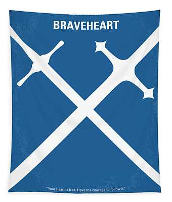 No507 My Braveheart Minimal Movie Poster Tapestry
