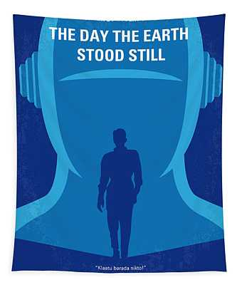 No514 My The Day The Earth Stood Still Minimal Movie Poster Tapestry
