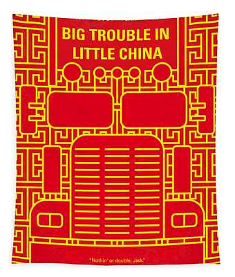 No515 My Big Trouble In Little China Minimal Movie Poster Tapestry
