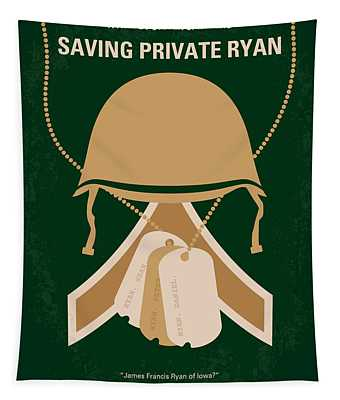 No520 My Saving Private Ryan Minimal Movie Poster Tapestry