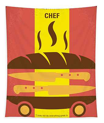 No524 My Chef Minimal Movie Poster Tapestry