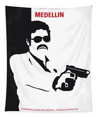 No526 My Medellin Minimal Movie Poster Tapestry
