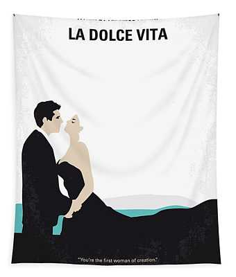 No529 My La Dolce Vita Minimal Movie Poster Tapestry