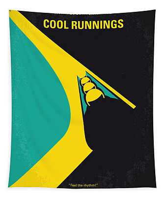No538 My Cool Runnings Minimal Movie Poster Tapestry