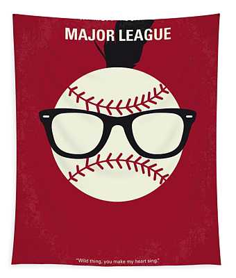 No541 My Major League Minimal Movie Poster Tapestry