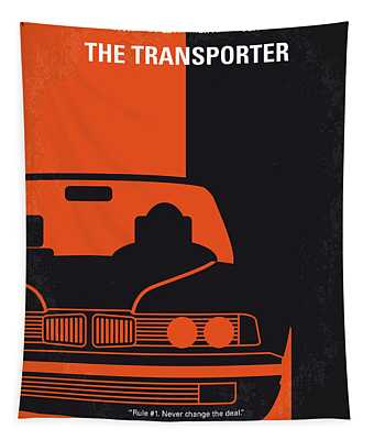 No552 My The Transporter Minimal Movie Poster Tapestry