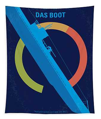 No553 My Das Boot Minimal Movie Poster Tapestry