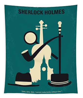 No555 My Sherlock Holmes Minimal Movie Poster Tapestry