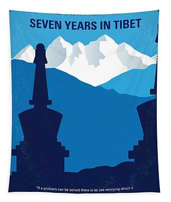 No559 My Seven Years In Tibet Minimal Movie Poster Tapestry