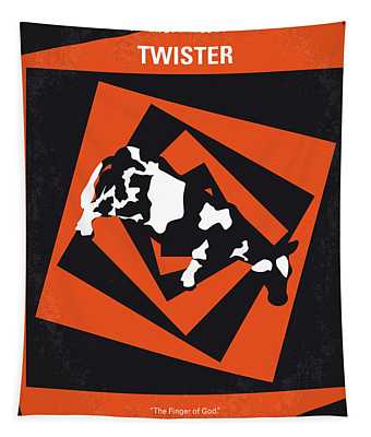 No560 My Twister Minimal Movie Poster Tapestry