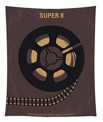 No578 My Super 8 Minimal Movie Poster Tapestry