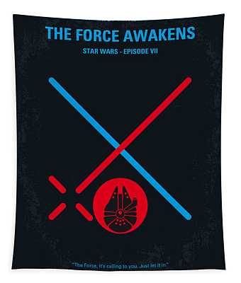 No591 My Star Wars Episode Vii The Force Awakens Minimal Movie Poster Tapestry