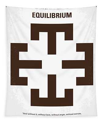 No595 My Equilibrium Minimal Movie Poster Tapestry