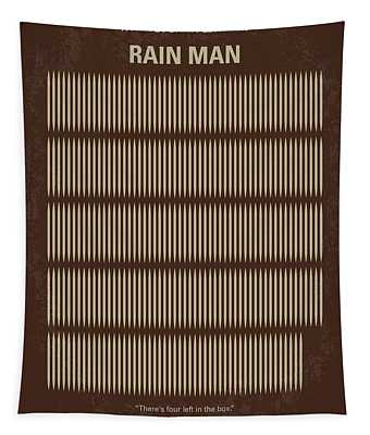 No602 My Rain Man Minimal Movie Poster Tapestry