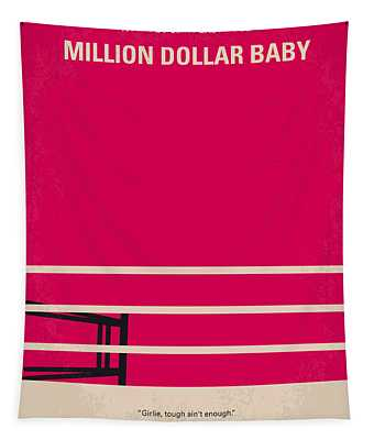 No613 My Million Dollar Baby Minimal Movie Poster Tapestry
