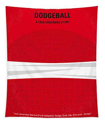 No617 My Dodgeball Minimal Movie Poster Tapestry