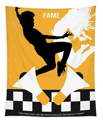 No619 My Fame Minimal Movie Poster Tapestry