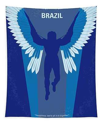 No643 My Brazil Minimal Movie Poster Tapestry