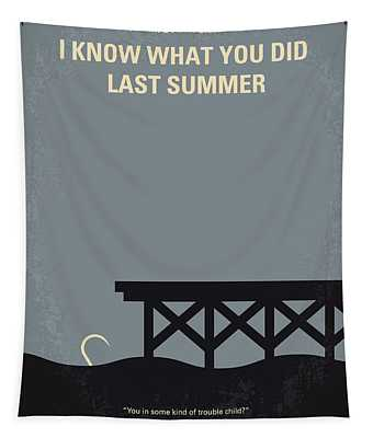 No650 My I Know What You Did Last Summer Minimal Movie Poster Tapestry