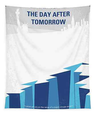 No651 My The Day After Tomorrow Minimal Movie Poster Tapestry
