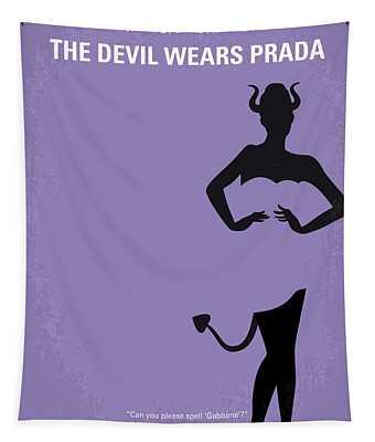 No661 My The Devil Wears Prada Minimal Movie Poster Tapestry