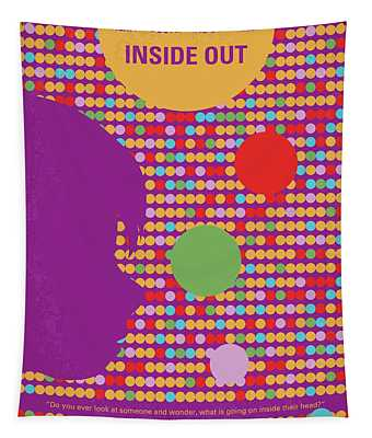 No664 My Inside Out Minimal Movie Poster Tapestry